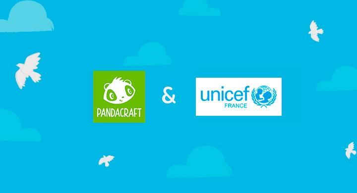 Pandacraft s'engage avec l'Unicef !