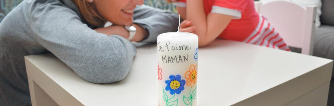 une bougie pour maman pandacraft activit s manuelles enfants 3 7 ans. Black Bedroom Furniture Sets. Home Design Ideas